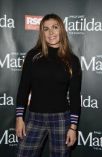 Kym Marsh At Press night for Matilda at The Palace Theatre in Manchester