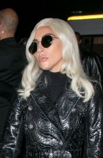 Lady Gaga Attends the Celine show as part of the Paris Fashion Week
