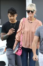 Laeticia Hallyday Stops at Meche hairdresser in Los Angeles