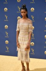 Letitia Wright At 70th Primetime Emmy Awards in Los Angeles