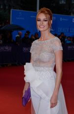 """Maeva Coucke At """"The Sisters Brothers"""" Premiere during 2018 Deauville American Film Festival in France"""