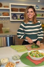 Maria Menounos Shows off her culinary skills while announcing the Home Chef Meal Makeover challenge - Los Angeles