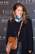 Marie-Ange Casta Attending the premiere of First Man in Paris, France
