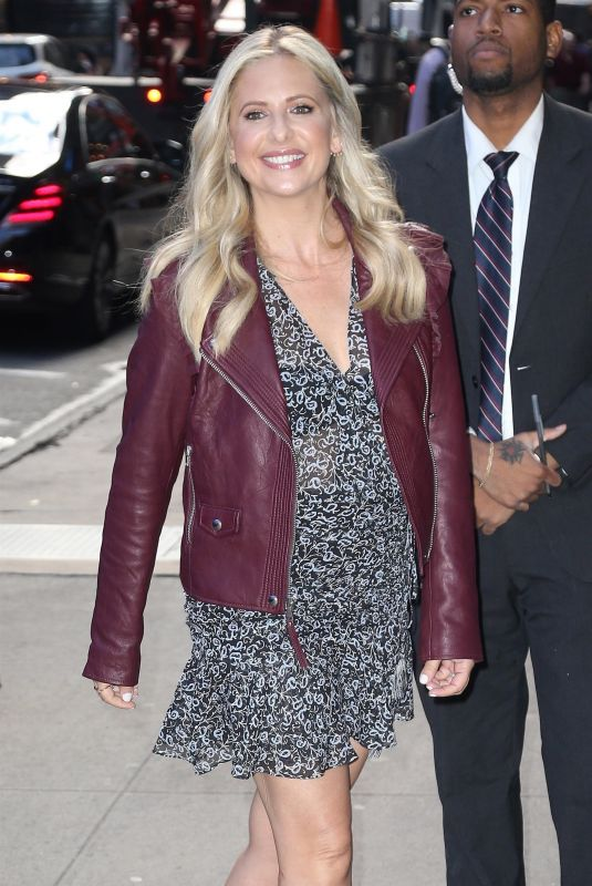 Sarah Michelle Gellar Makes an appearance at the Good Morning America show in New York