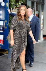 Tamara Ecclestone In leopard print maxi as she steps out for lunch in London