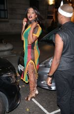 Alexandra Burke Heads to Halloween party in London