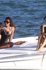 Anitta Isabela Rangel In the sun on a yacht in Miami