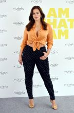 Ashley Graham Promoting new Line Violeta From Mango Clothes in Madrid