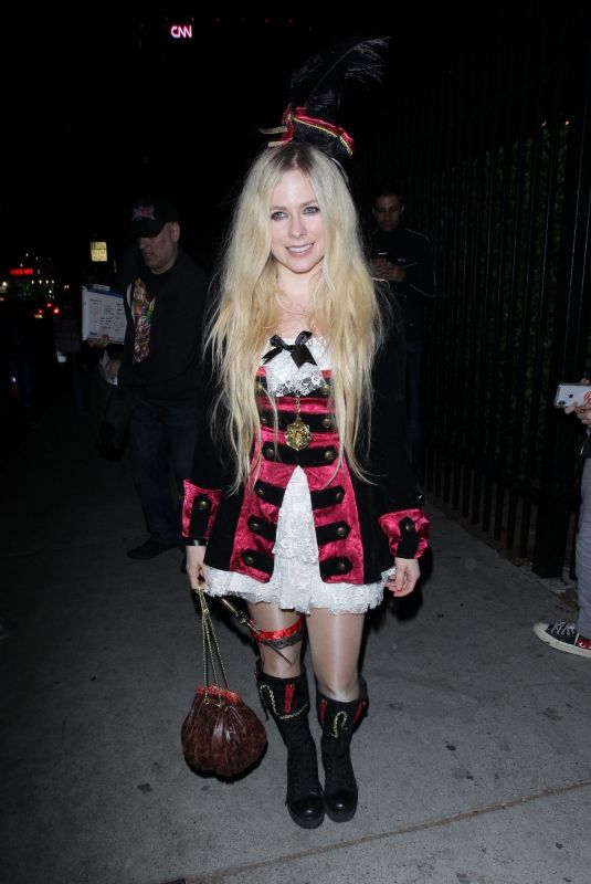 Avril Lavigne At Just Jared Halloween Party in West Hollywood