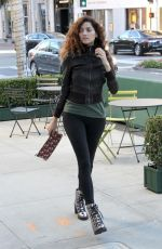 Blanca Blanco Heads out in style on the streets of Beverly Hills