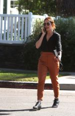 Brittany Snow Strolls home after lunch in LA