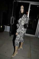 Cally Jane Beech Arrives at Menagerie bar and restaurant in Manchester
