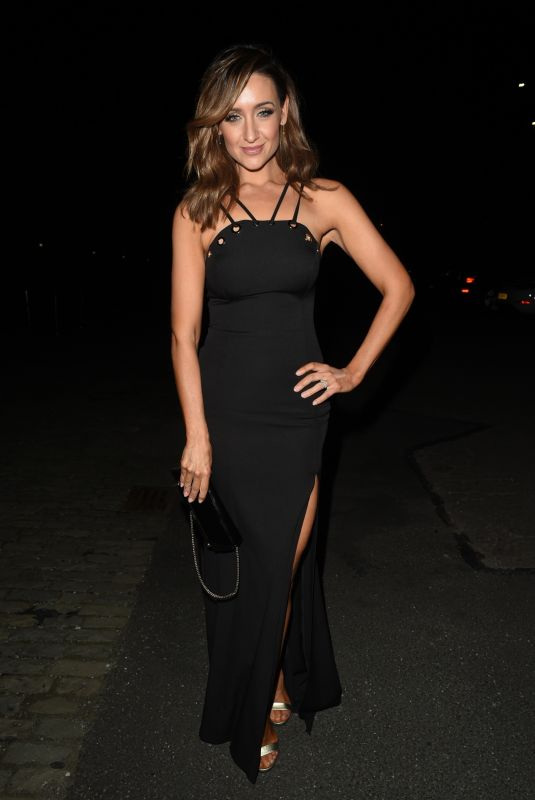 Catherine Tyldesley Arriving the Royal Manchester Childrens Hospital Charity Ball at The Warehouse in Manchester