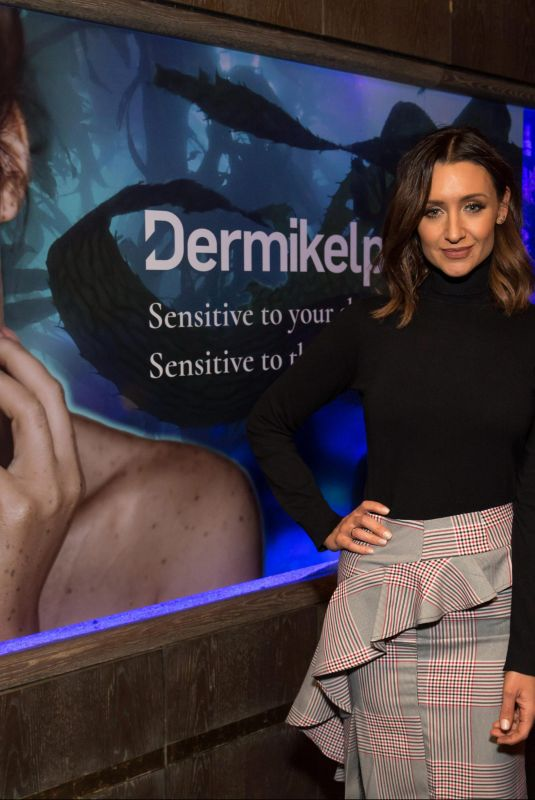 Catherine Tyldesley At Dermikelp Skincare Brand Event At Sexy Fish Restaurant in Mayfair, London
