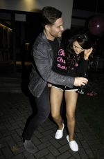 Charlotte Dawson Arrives For Birthday Night Out In Blackpool
