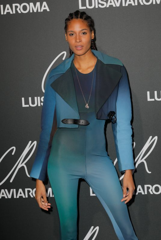 Cindy Bruna At CR Fashion Book x Luisaviaroma party, Spring Summer 2019, Paris Fashion Week, France