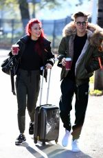 Dianne Buswell Arriving at rehearsals in North London