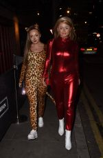 Emily Atack Leaving the KISS Haunted House Party at the SSE Arena, London
