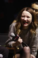 Emily Browning At the NYCC 2018 American Gods Panel during the 2018 New York Comic Con