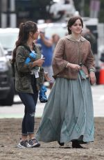 Emma Watson Filming her first day on the set of