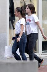 Emma Watson Leaving La Perla, a luxury lingerie store in Boston