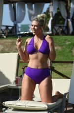 Frankie Essex In a skimpy purple bikini on holiday in Cyprus
