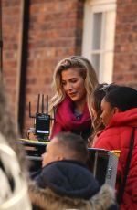 Gemma Atkinson Talking Into The Camera Before The Scene Cuts Away To Her Walking Along A Small Residential Street, Manchester