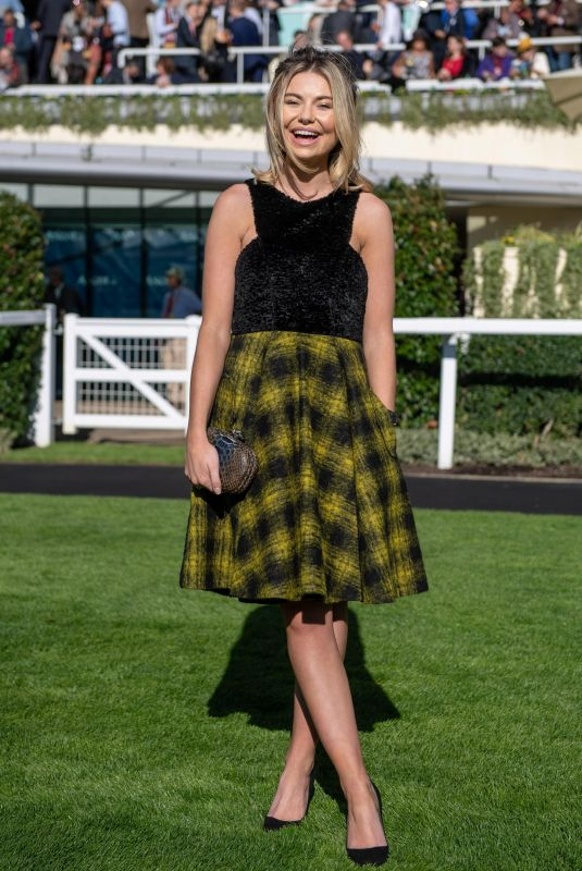 Georgia Toffolo At QIPCO British Champions Day at Ascot Racecourse in Berkshire