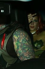 Halsey Leaves her Halloween Party in Downtown LA