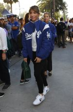 Jennifer Flavin Arrives to World Series Dodgers game with a friend in Los Angeles