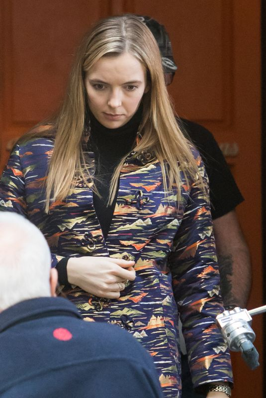 Jodie Comer and Kim Bodnia are spotted filming Killing Eve in Bloomsbury
