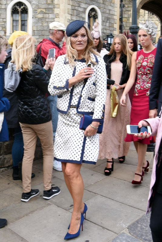 Kate Moss Pictured with her daughter Lila Grace Moss leaving Windsor Castle