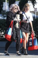 Kate Moss With Lila Grace Moss and Kelly Osbourn while out in West Hollywood