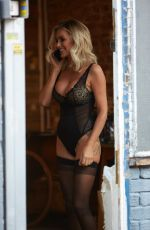 Laura Anderson Doing a photo shoot in lingerie in London