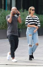 Leona Lewis Grabs lunch at Cafe Gratitude with a mystery man in Los Angeles