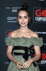 Lily Collins At GO Campaign Gala at the City Market Social House in Los Angeles