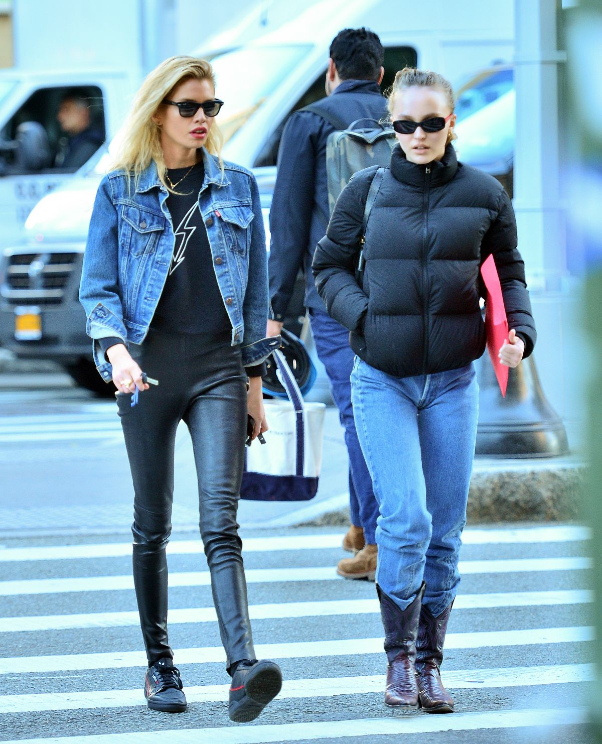 Lily-Rose Depp & Stella Maxwell Out and about in New York