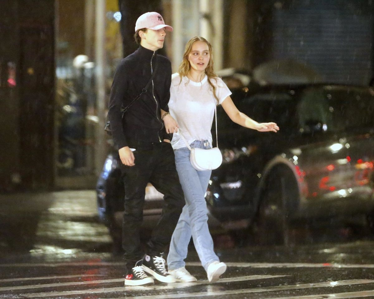 Lily-Rose Depp & Timothée Chalamet Out and about in New York