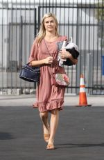 Lindsay Arnold In a cute Sunday dress heading to the DWTS studio in Los Angeles