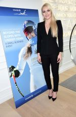 Lindsey Vonn At Collaboration with Chase Ink