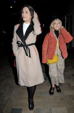 Lucy Fallon and Nicola Thorp Arriving at The Grand Theatre in Blackpool