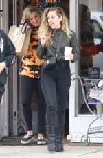 Miley Cyrus Shopping for organic baby clothes at Hankie Babies in Studio City