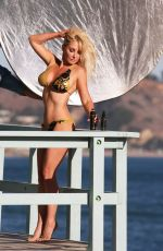 Nikki Lund With daughter Ashley Bringthon on the set of a Beach Photoshoot in Malibu