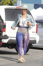 Paula Patton Rocks a bohemian look for a little shopping trip with her son in Malibu