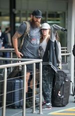 Ronda Rousey Arrives into Melbourne airport in Melbourne