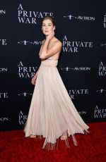 """Rosamund Pike At Los Angeles Premiere of """"A Private War"""""""