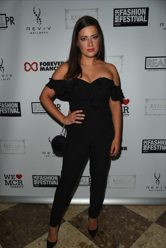 Sophie Austin At The Manchester Fashion Festival at The Midland Hotel in Manchester