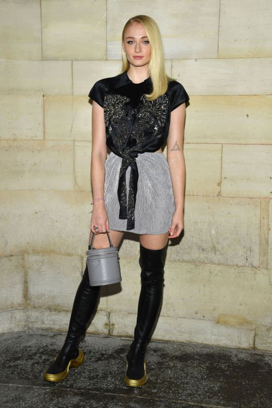 Sophie Turner At Louis Vuitton show front row as part of the PFW in Paris