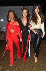 Stephanie Davis, Jennifer Metcalfe & Chelsee Healey At Night Out At Menagerie Restaurant & Bar in Manchester