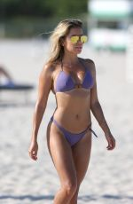 Sylvie Meis In a purple bikini on Miami Beach